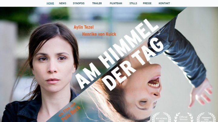 "Filmwebsite ""Am Himmel der Tag"""
